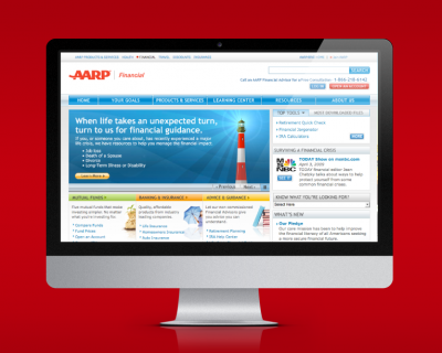 AARP Financial Brochureware Site